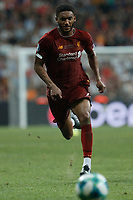 ISTANBUL, TURKEY - AUGUST 14: Joe Gomez of Liverpool in action during the UEFA Super Cup match between Liverpool and Chelsea at Vodafone Park on August 14, 2019 in Istanbul, Turkey. (Photo by MB Media/Getty Images)