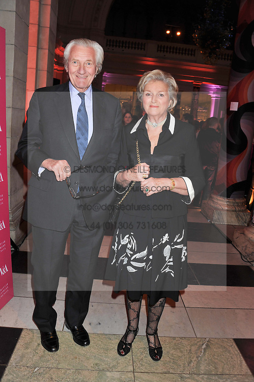 LORD & LADY HESELTINE at a private view of Ballgowns: British Glamour Since 1950 at the V&A museum, London on 15th May 2012.
