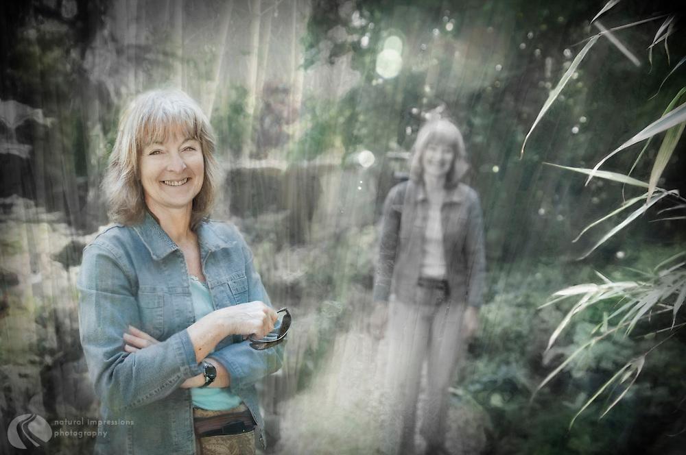 Kathy: Hard working bamboo garden artist.