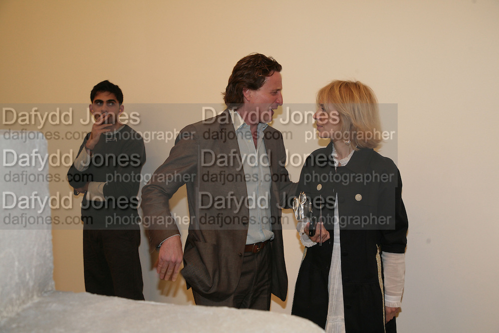 Tim Attias and Sahar Hashemi, Allora & Calzadilla: Clamor - private view. Serpentine Gallery. 17 April 2007.  -DO NOT ARCHIVE-© Copyright Photograph by Dafydd Jones. 248 Clapham Rd. London SW9 0PZ. Tel 0207 820 0771. www.dafjones.com.