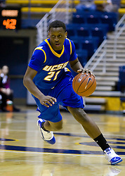 December 28, 2009; Berkeley, CA, USA;  UC Santa Barbara Gauchos forward James Nunnally (21) during the second half against the Furman Paladins at the Haas Pavilion.  UC Santa Barbara defeated Furman 72-60.