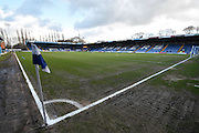 The stands await before the The FA Cup fourth round match between Bury and Hull City at Gigg Lane, Bury, England on 30 January 2016. Photo by Mark Pollitt.