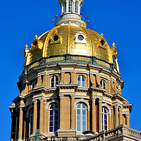 Iowa State Capitol Dome in Des Moines, Iowa<br />