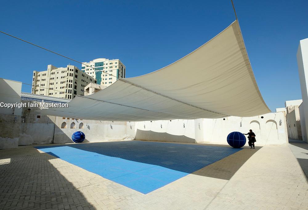 "Art installation by Eduardo Navarro called ""XYZ""  at 2015 Sharjah Biennial art festival in Sharjah united Arab Emirates"