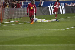 March 10, 2018 - Harrison, New Jersey, United States - Benjamin Mines (17) of Red Bulls scored goal during regular MLS game against Portland Timbers at Red Bull Arena Red Bulls won 4 - 0 (Credit Image: © Lev Radin/Pacific Press via ZUMA Wire)