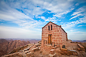 Greek orthdox chapel on mount sinai / moses mountain at 2285m in Egypt