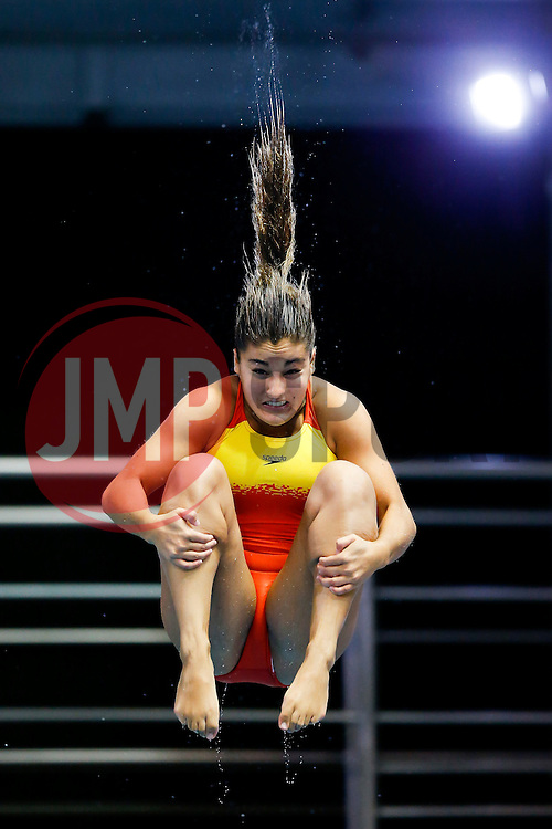 Rocio Velazquez Roldan of Spain practices for the Womens 3m Springboard - Photo mandatory by-line: Rogan Thomson/JMP - 07966 386802 - 23/08/2014 - SPORT - DIVING - Berlin, Germany - SSE im Europa-Sportpark - 32nd LEN European Swimming Championships 2014 - Day 11.