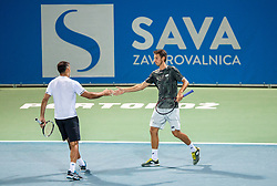 Sergiy Stakhovsky of Ukraine (R) and Nenad Zimonjic of Serbia playing doubles during ATP Challenger Zavarovalnica Sava Slovenia Open 2019, day 6, on August 14, 2019 in Sports centre, Portoroz/Portorose, Slovenia. Photo by Vid Ponikvar / Sportida
