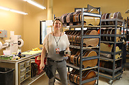 El Cajon/San Diego, California- March 9th, 2018: Toni Anne Barson at The Taylor Guitars Factory in El Cajon, California (Photo by Tim Whitehouse)