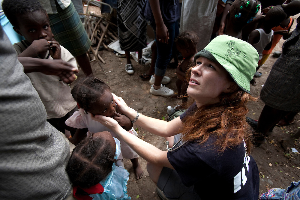 Annette Anderson, a doctor from Vancouver,working in a makeshift refugee, JP HRO, run by the movie actor Sean Penn.<br /> The camp is estimated to have over 55,000 refugees. <br /> Six month after a catastrophic earthquake measuring 7.3 on the Richter scale hit Haiti on January 13, 2010, killing an estimated 230,000 people, injuring an estimated 300,000 and making homeless an estimated 1,000,000.