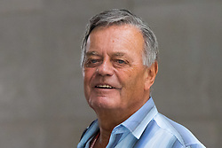 London, July 23rd 2017. BBC radio presenter Tony Blackburn is spotted outside the studios at New Broadcasting House in London