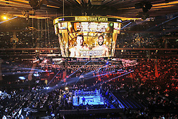 25.04.2015, Madison Square Garden, New York, USA, WBA, Wladimir Klitschko vs Bryant Jennings, im Bild Ring, Anzeigentafel, Videowuerfel // during IBF, WBO and WBA world heavyweight title boxing fight between Wladimir Klitschko of Ukraine and Bryant Jennings of the USA at the Madison Square Garden in New York, United Staates on 2015/04/25. EXPA Pictures © 2015, PhotoCredit: EXPA/ Eibner-Pressefoto/ Kolbert<br /> <br /> *****ATTENTION - OUT of GER*****