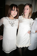 PEACHES GELDOF AND LILY EVANS. Cos Collection launch. Launch of new Hennes And Mauritz brand. Royal academy of Arts. Burlington Place. london. 14 march 2007.  -DO NOT ARCHIVE-© Copyright Photograph by Dafydd Jones. 248 Clapham Rd. London SW9 0PZ. Tel 0207 820 0771. www.dafjones.com.