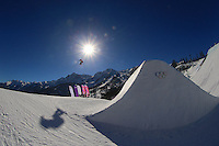 Snowboarding: 2014 Winter Olympics: A view of miscellaneous action during Women's Slopestyle qualification at Rosa Khutor Extreme Park. Krasnaya Polyana, Russia 2/6/2014 CREDIT: Jed Jacobsohn (Photo by Jed Jacobsohn /Sports Illustrated