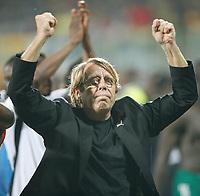 Photo: Steve Bond/Richard Lane Photography.<br />Ghana v Nigeria. Africa Cup of Nations. 03/02/2008. Winning coach Claude Le Roy