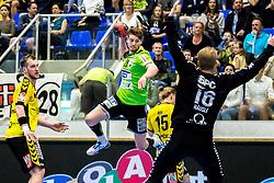 27.04.2018, BSFZ Suedstadt, Maria Enzersdorf, AUT, HLA, SG INSIGNIS Handball WESTWIEN vs Bregenz Handball, Viertelfinale, 1. Runde, im Bild Julian Pratschner (SG INSIGNIS Handball WESTWIEN) // during Handball League Austria, quarterfinal, 1 st round match between SG INSIGNIS Handball WESTWIEN and Bregenz Handball at the BSFZ Suedstadt, Maria Enzersdorf, Austria on 2018/04/27, EXPA Pictures © 2018, PhotoCredit: EXPA/ Sebastian Pucher