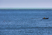 Swimming off Sunny Sands beach, Folkestone. Kent.