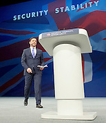 Conservative Party Conference Manchester Great Britain <br /> 7th October 2015 <br /> Day 4<br /> Stephen Crabb MP <br /> Welsh Secretary <br /> speech <br /> <br /> <br /> <br /> Photograph by Elliott Franks <br /> Image licensed to Elliott Franks Photography Services