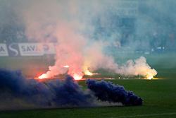 Bakle on pitch during football match between NK Maribor and Olimpija Ljubljana in 32nd Round of Prva liga Telekom Slovenije 2018/19, on May 11, 2019 in Ljudski Vrt, Maribor, Slovenia. Photo by Blaž Weindorfer / Sportida