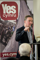 20-02-16. Cardiff, Wales,  UK. Launch Rally of YesCymru :a new cross-party grass-roots movement advocating an Independent Wales. The meeting had 100 activists from allover the Principality and a variety of differing party political views. Speaking were Iestyn ap Rhobert (Spokesperson), Shona McAlpine from the Scottish Yes campaign, John Dixon former OPlaid Cymru Chair and author, Liz Castro from the Assemblea Nacional Catalana (Catalonia) and music from Caryl Parry Jones and Sion Jobbins outlining a new acticvist book based on the Wee Blue Book in Scotland.  More Info: Iestyn ap Rhobert: ietynap@hotmail.com post@yescymru.org 07817024319  http://yes.cymru  @yescymru  Picture credit: Ian Homer/LNP