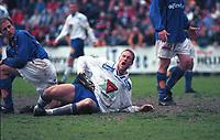 99071407: Andreas Lund felles i kampen Kjelsås - Molde på Grefsen stadion, 29. juni 1999. 4. runde NM 1999. (Foto: Peter Tubaas)