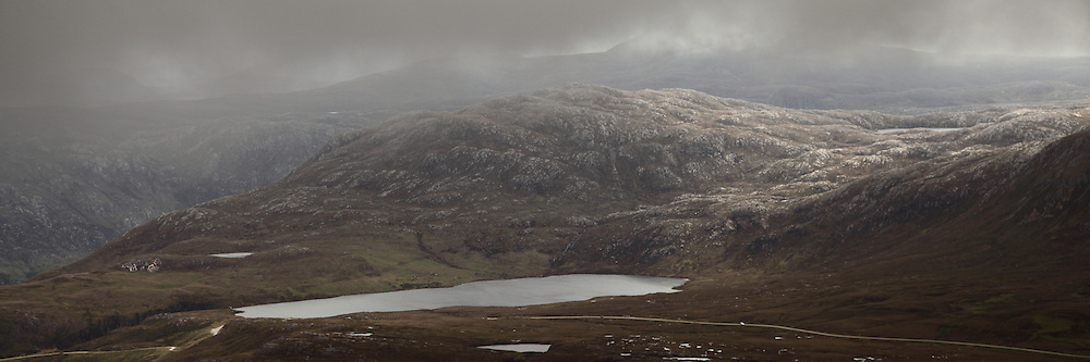 A view from the Quinag mountain range, Sutherland, Scotland.