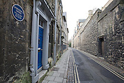 View down Brewer Street towards St Ebbes next to house of Dorothy L Sayers, writer and scholar