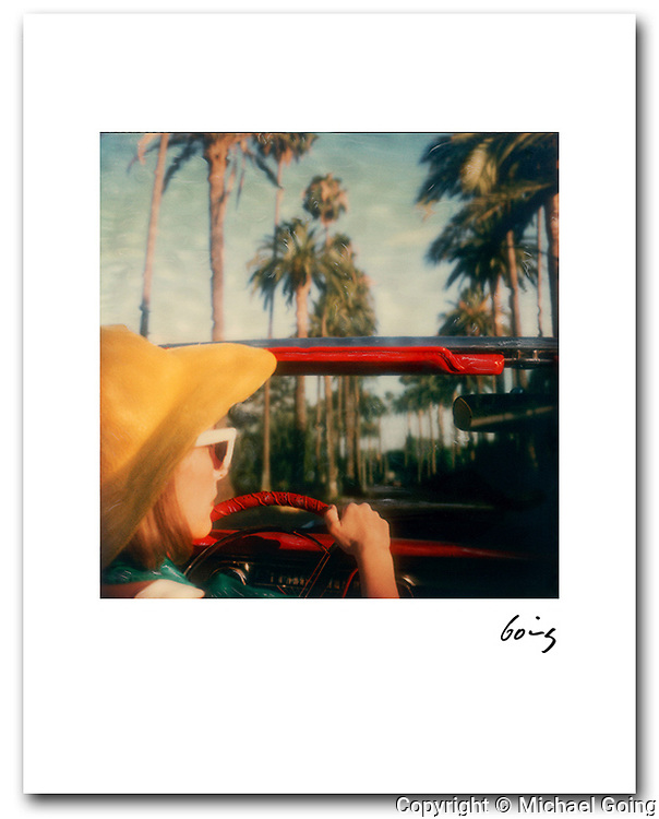 8x10 signed archival pigment print. Hand altered Polaroid SX 70 photograph. Printed  to order and individually hand signed