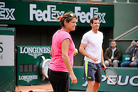 Amelie MAURESMO coach de  Andy MURRAY  - 21.05.2015 -  Roland Garros 2015<br />