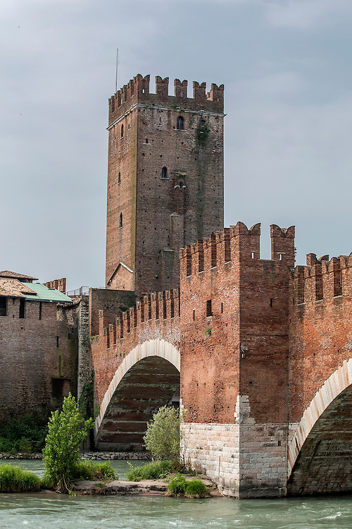The medieval fort Castelvechio on the banks of the River Adige in Verona Italy