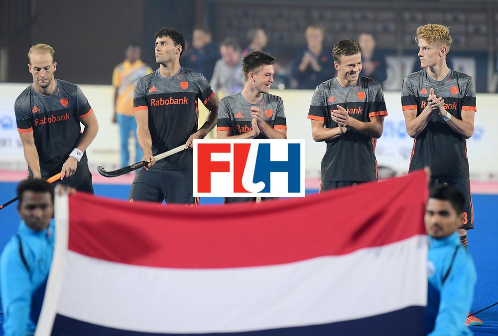 Odisha Men's Hockey World League Final Bhubaneswar 2017<br /> Match id:12<br /> Belgium v Netherlands<br /> Foto: Line Up<br /> COPYRIGHT WORLDSPORTPICS FRANK UIJLENBROEK