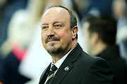 Newcastle United manager Rafael Benitez during the Premier League match between Newcastle United and Leicester City at St. James's Park, Newcastle, England on 9 December 2017. Photo by Craig Doyle.