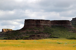 scenic butte and rolling hills of north west Nebraska