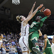 STORRS, CONNECTICUT- NOVEMBER 17: Alexis Jones #30 of the Baylor Bears drives to the basket defended by Katie Lou Samuelson #33 of the UConn Huskies during the UConn Huskies Vs Baylor Bears NCAA Women's Basketball game at Gampel Pavilion, on November 17th, 2016 in Storrs, Connecticut. (Photo by Tim Clayton/Corbis via Getty Images)