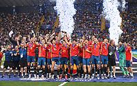FUSSBALL UEFA U21-EUROPAMEISTERSCHAFT FINALE 2019  in Italien  Spanien - Deutschland   30.06.2019 JUBEL Sieger Spanien;  Teamjubel  bei der Siegerehrung