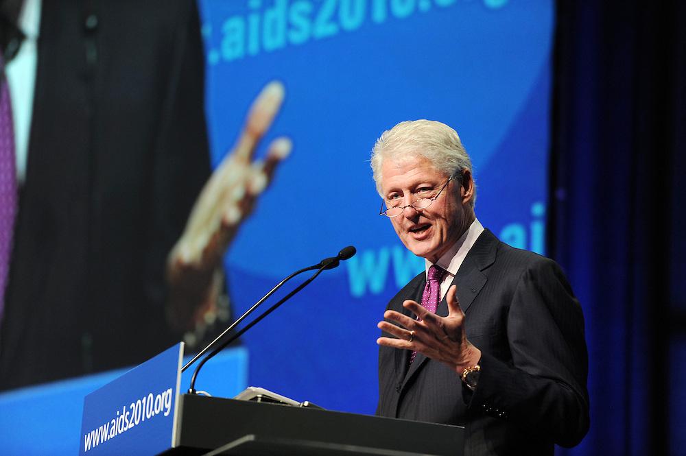 Austria, Vienna. XVIII International AIDS Conference (AIDS 2010).Plenary Session.Photo shows: Former U.S. President  Bill Clinton, William J. Clinton Foundation, United States..©IAS/Steve Forrest/Workers' Photos
