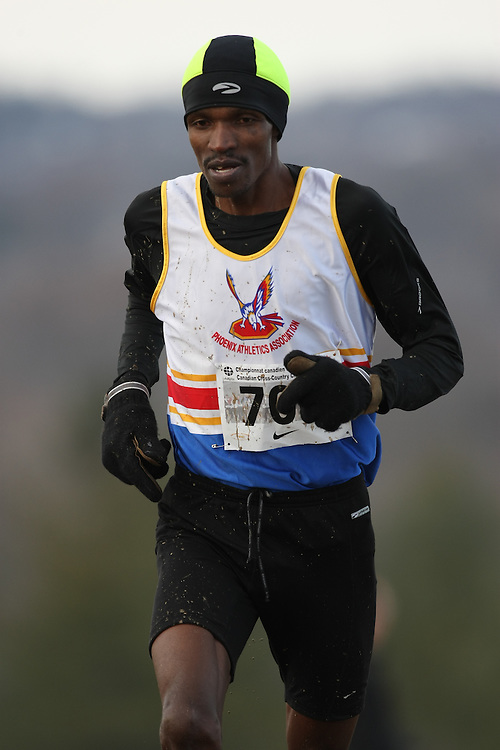 Guelph, Ontario ---29/11/08---  GITAH MACHARIA competes in the senior men's race at the 2008 AGSI Canadian Cross Country Championships in Guelph, Ontario, November 29, 2008..Sean Burges Mundo Sport Images