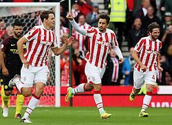Bojan Krkic of Stoke City celebrates after scoring his sides first goal  - Mandatory by-line: Matt McNulty/JMP - 20/08/2016 - FOOTBALL - Bet365 Stadium - Stoke-on-Trent, England - Stoke City v Manchester City - Premier League