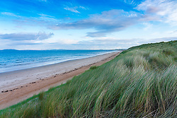 View of beach and sand dunes at Laggan Bay on Islay in Inner Hebrides, Scotland , UK