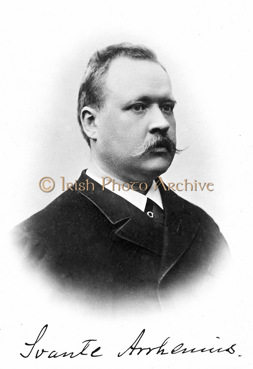 Svante Arrhenius (1859-1927) Swedish physicist and chemist; Nobel prize for chemistry 1903. Photograph. Universitetsbibliotek, Uppsala
