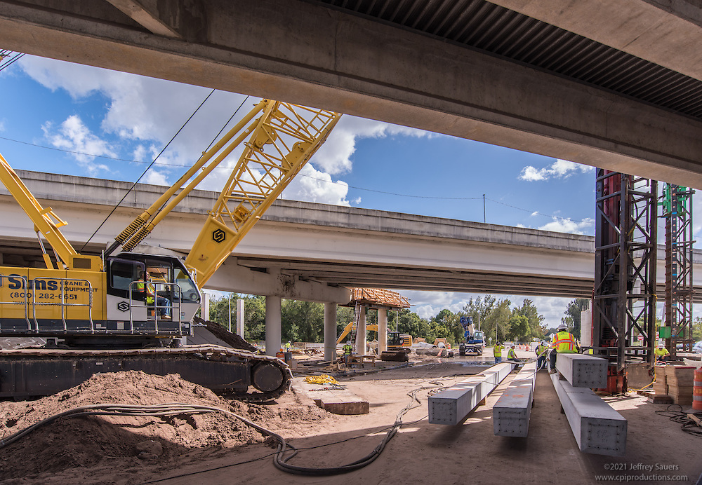 Construction  Photo of Veteran's Expressway at Hutchison Road in Tampa Florida by Jeffrey Sauers of Commercial Photographics, Architectural Photo Artistry in Washington DC, Virginia to Florida and PA to New England