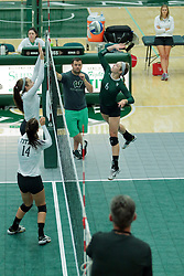 26 August 2017:  Maisy Bowden during the green-white scrimmage of the Illinois Wesleyan Titans in Shirk Center, Bloomington IL