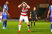 Doncaster Rovers midfielder Ben Whiteman (8) reacts during the EFL Sky Bet League 1 match between Doncaster Rovers and Blackpool at the Keepmoat Stadium, Doncaster, England on 17 September 2019.