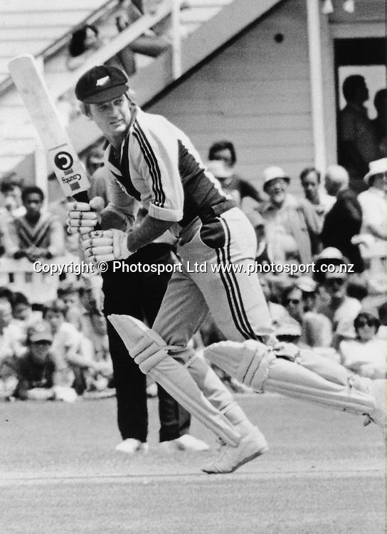 Geoff Howarth bats for NZ, New Zealand International Cricket.  Date Unknown, Cricket Archival. Norman Smith/PHOTOSPORT