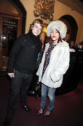 JAIME WINSTONE and ALFIE ALLEN at the Cirque du Soleil's gala premier of Quidam held at the Royal Albert Hall, London on 6th January 2009