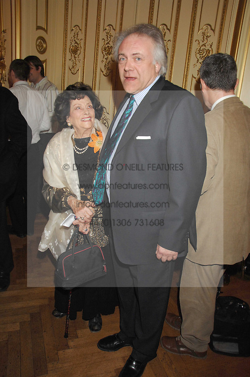 JACQUELINE, LADY KILLEARN and PATRICK GUINNESS at a party to celebrate the publication of 'Arthur's Road' a biography of Arthur Guinness written by Patrick Guinness held at the Irish Embassy, London on 6th March 2008.<br />