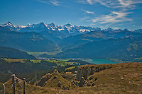 Berner Oberland, Switzerland. Wonderful panorama of the Jungfrau region.