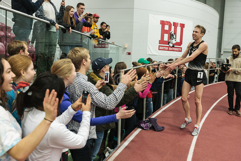 Boston University Multi-team indoor track & field meet, Galen Rupp victory lap