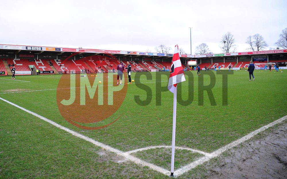 A general view of the LCI Rail Stadium - Mandatory by-line: Nizaam Jones/JMP- 27/01/2018 - FOOTBALL - LCI Rail Stadium- Cheltenham,England - Cheltenham Town v Barnet -Sky Bet League Two