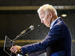 April 30, 2019 - Cedar Rapids, Iowa, U.S - Former Vice President JOE BIDEN speaks at his first election rally in Iowa, in downtown Cedar Rapids. Biden, who was Vice President for 8 years, emerged as the Democratic front runner shortly after declaring his candidacy. He kicked off his Iowa campaign in Cedar Rapids, and is visiting Dubuque, Iowa City and Des Moines in the next two days. Iowa traditionally hosts the the first selection event of the presidential election cycle. The Iowa Caucuses will be on Feb. 3, 2020. (Credit Image: © Jack Kurtz/ZUMA Wire)